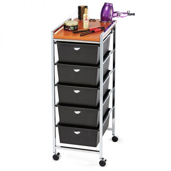 5-Drawer Professional Utility Cart Styling Station Miami, FL