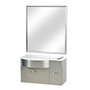 Stainless Steel Styling Station with White Stone Top Miami, FL